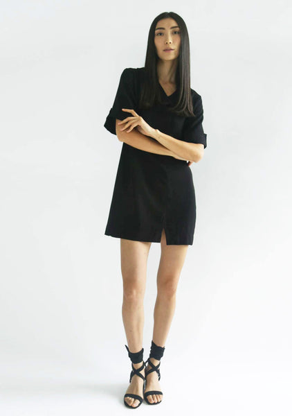 HARRIS DRESS - BLACK - SALIENT LABEL