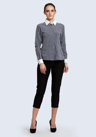 Hera Button-down Top in Multi - SALIENT LABEL