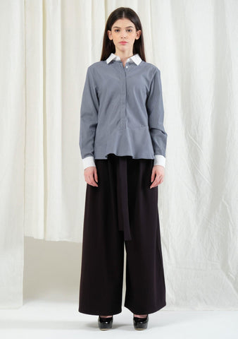Hera Button-down Top in Stripe - SALIENT LABEL