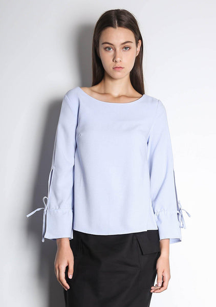 IKO LONG SLEEVED BLOUSE - POWDER BLUE