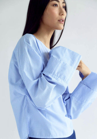 INGRID OVERSIZED BLOUSE - STRIPES