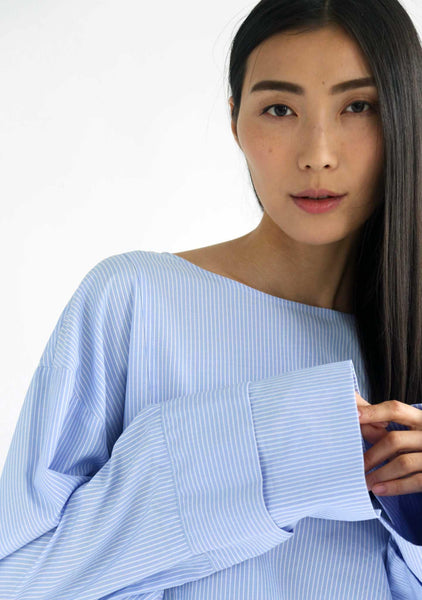 INGRID OVERSIZED BLOUSE - STRIPES - SALIENT LABEL