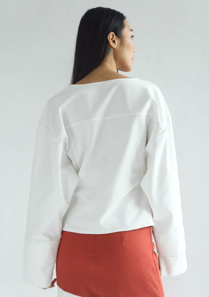 INGRID OVERSIZED BLOUSE - WHITE - SALIENT LABEL