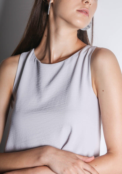ISHA ASYMMETRIC BACK TOP - ORCHID TINT - SALIENT LABEL