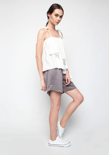 Izar Asymmetric Top in White