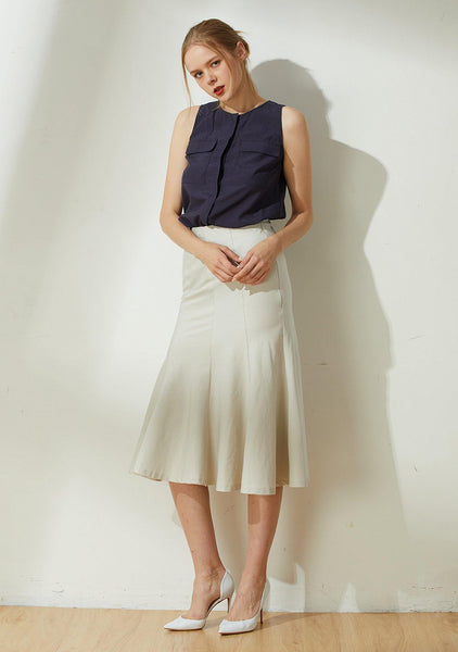 Kierce Mermaid Skirt - Oyster