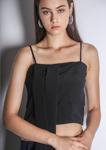 OPALLE CAMI TOP - BLACK