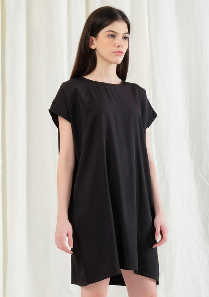 Lou Side Zip Top / Dress - Tricorn Black