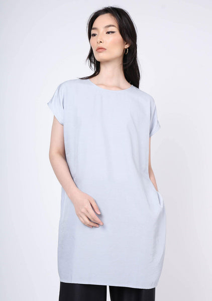 Lou Viscose Side Zip Top / Dress - Elation - SALIENT LABEL