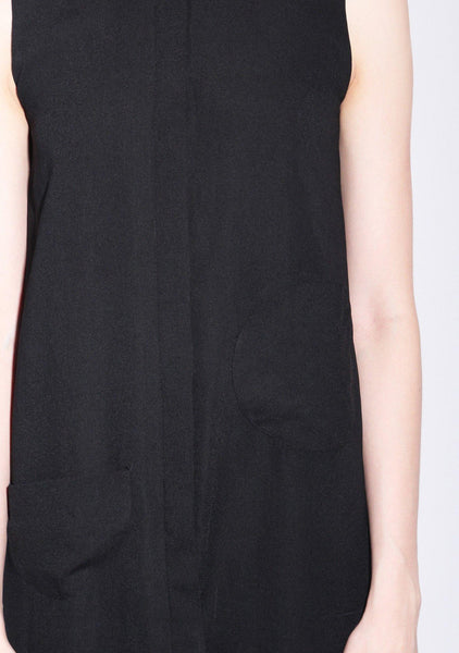 Marilynn Circular Cut Dress in Black
