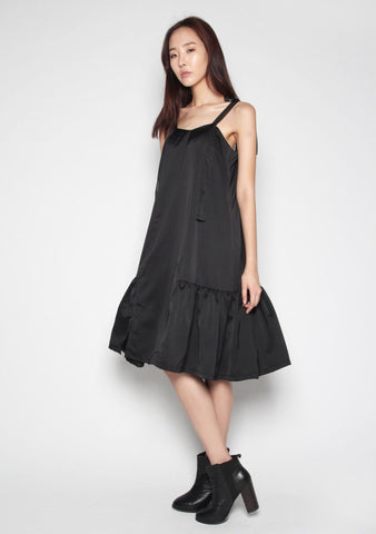 Marlee A-Line Flare Dress in Black
