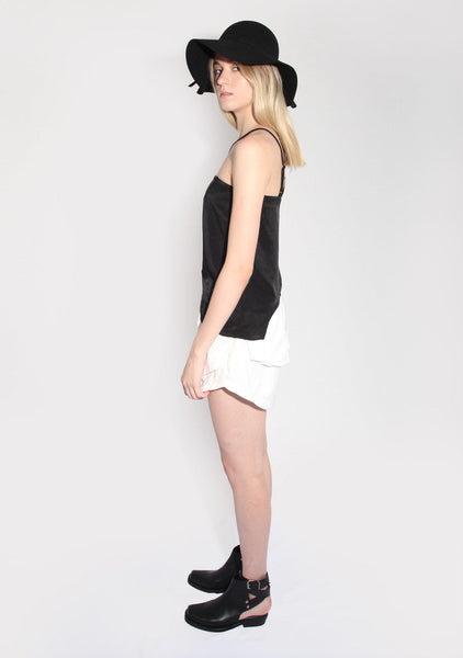 Marquise Black Top with Semi-circle Cut Out - SALIENT LABEL