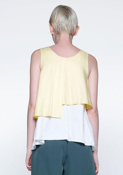 MICHON LAYERED REVERSIBLE TOP - YELLOW IRIS - SALIENT LABEL
