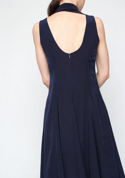 Sidney Midi Dress in Midnight Blue