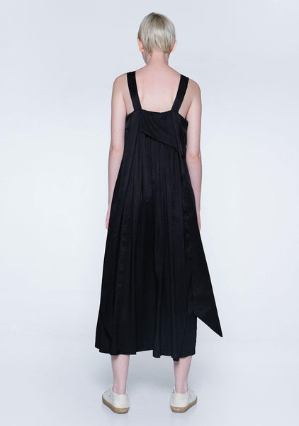 MIZUKI LONG STRAP MIDI DRESS - OBSIDIAN - SALIENT LABEL