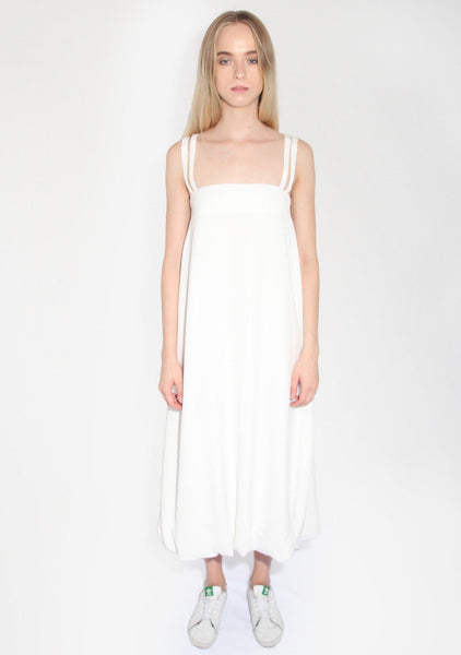 Morrisson Maxi Dress in White Crepe