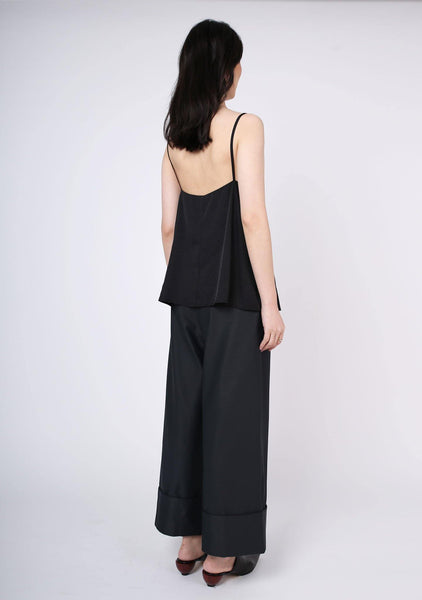 Nikko Square Neckline Cami Top - Tricorn Black - SALIENT LABEL