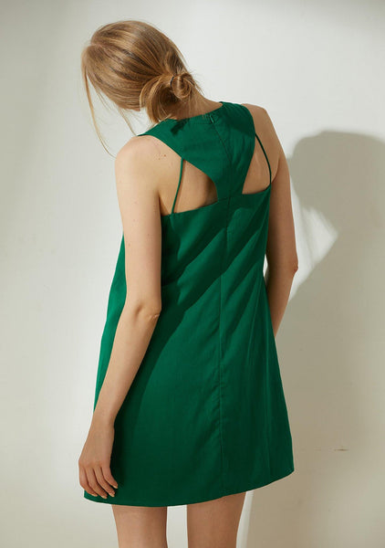 Odette Cut-out Back Shift Dress - Botanical