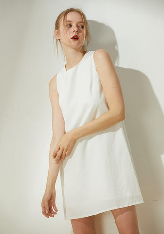 Odette Cut-out Back Shift Dress - Timeless - SALIENT LABEL