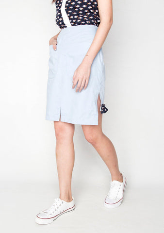 ZOE OXFORD BLUE SKIRT