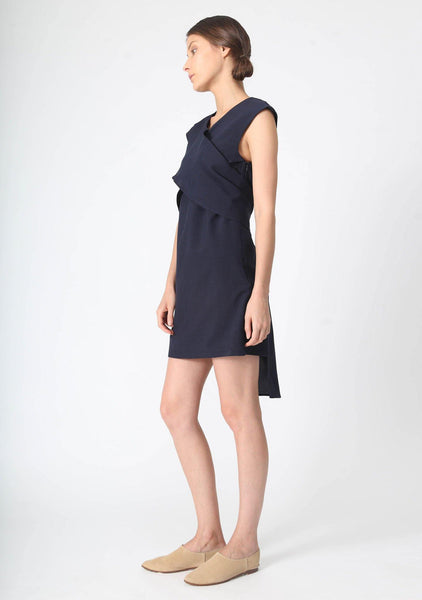 PALERMO TIE BACK DRESS - PIRATE BLACK - SALIENT LABEL