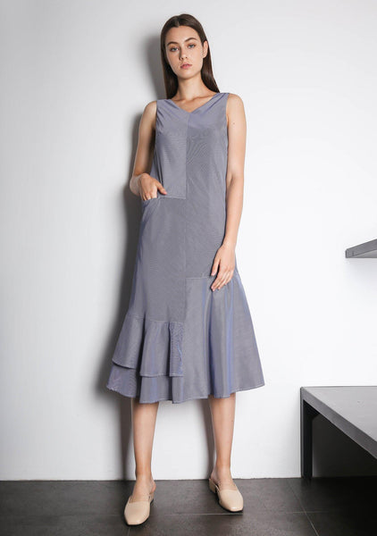 PIPA PANELED DRESS - STRIPE - SALIENT LABEL