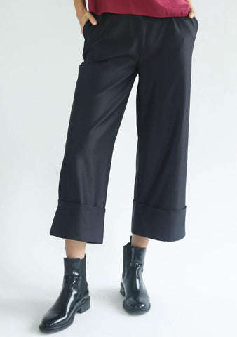 ROSENBURG CUFF PANTS - GRAPHITE BLACK