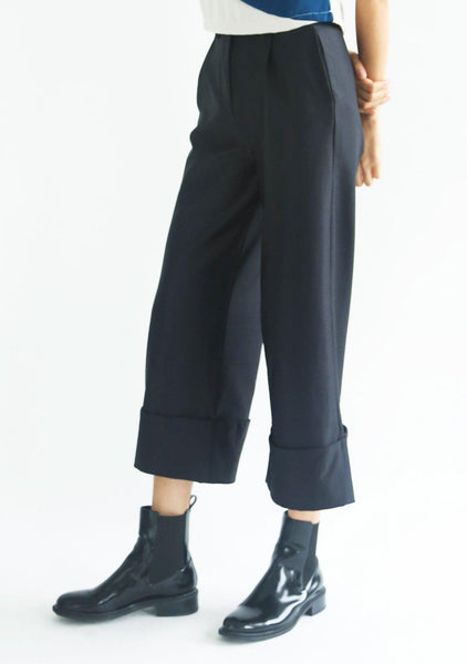 ROSENBURG CUFF PANTS - GRAPHITE BLACK - SALIENT LABEL