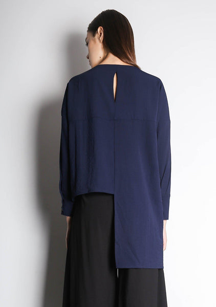SONYA TOP - NAVY - SALIENT LABEL