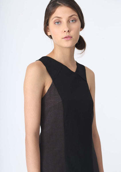 STILES ASYMMETRIC NECKLINE DRESS - ANCHOR - SALIENT LABEL