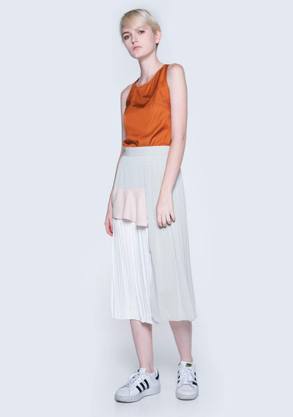 TIVRI ASYMMETRIC BACK TOP - GINGER - SALIENT LABEL