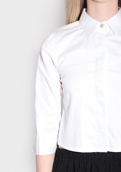 Toulose Square Back Shirt in White