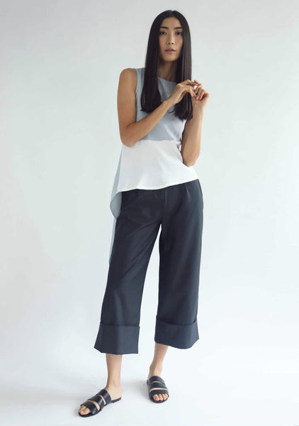ROSENBURG CUFF PANTS - DARK SLATE GREY - SALIENT LABEL