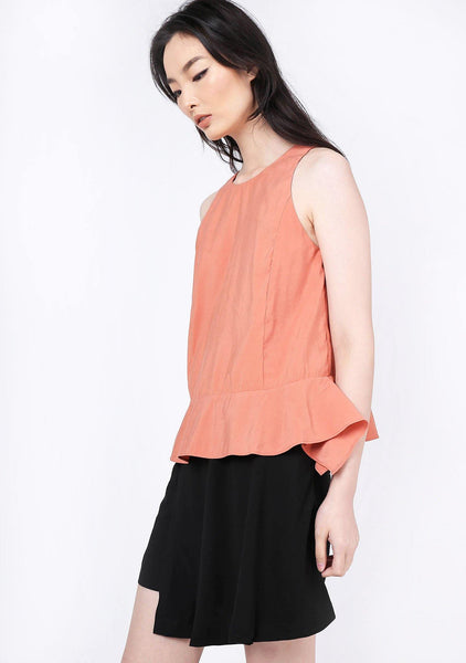 Valencia Side Drape Top - Terra Cotta - SALIENT LABEL
