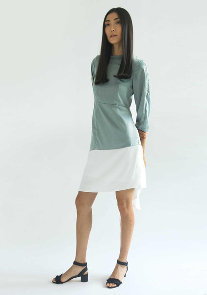 WHITTON DRESS - CATALINA BLUE - SALIENT LABEL
