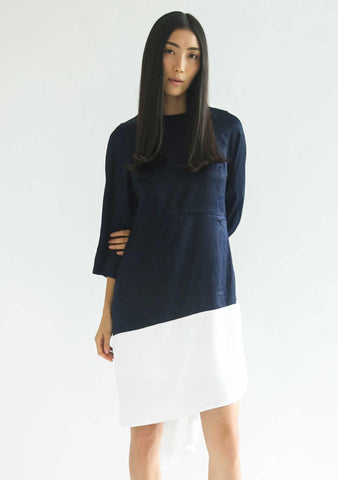 WHITTON DRESS - OXFORD BLUE - SALIENT LABEL