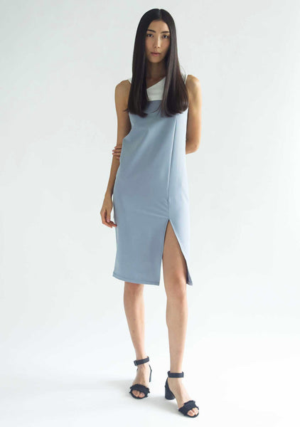 WINCHESTER MIDI DRESS - MIST - SALIENT LABEL