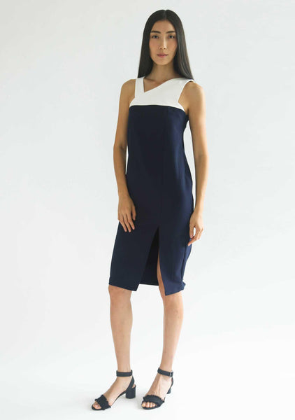 WINCHESTER MIDI DRESS - NIGHT OF NAVY - SALIENT LABEL