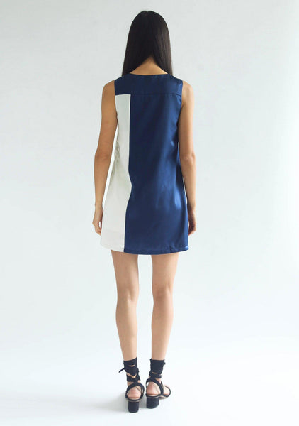 ZOLA DRESS - PRUSSIAN BLUE - SALIENT LABEL