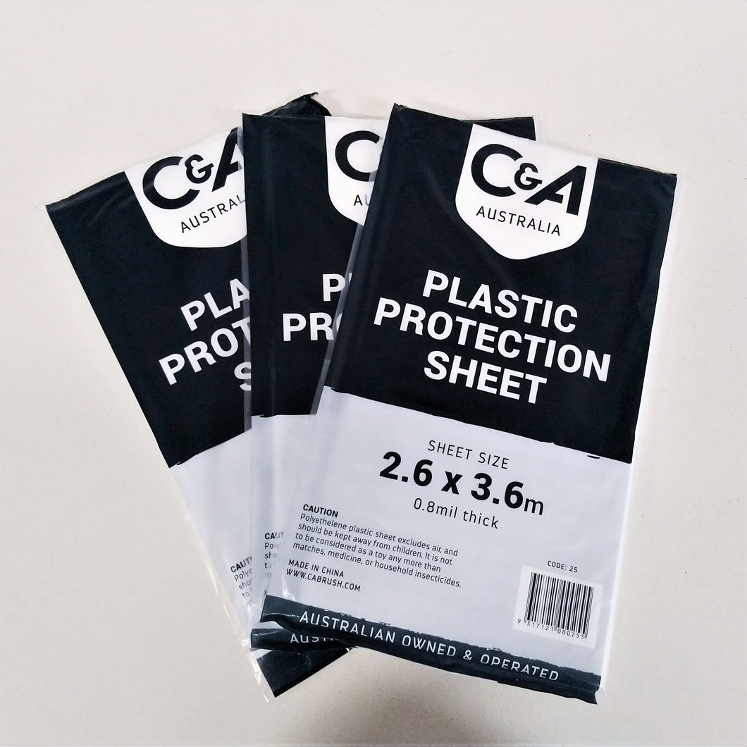Plastic Protection Sheet (2.6 x 3.6m)