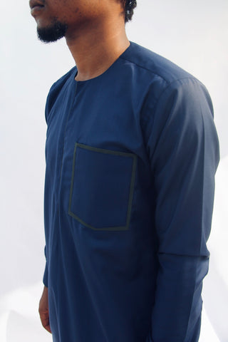 I.N OFFICIAL NAVY BLUE KAFTAN