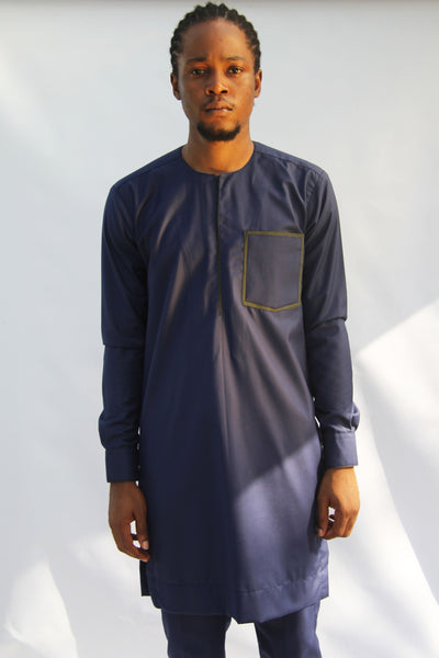 I.N OFFICIAL NAVY BLUE KAFTAN AND PANTS