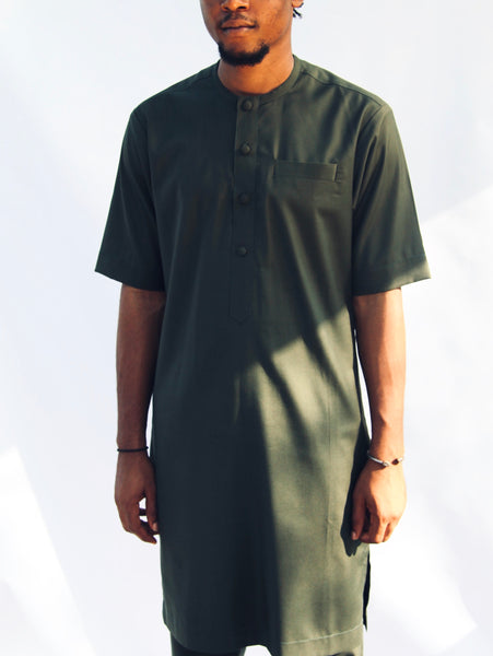 I.N OFFICIAL ARMY GREEN KAFTAN AND PANTS