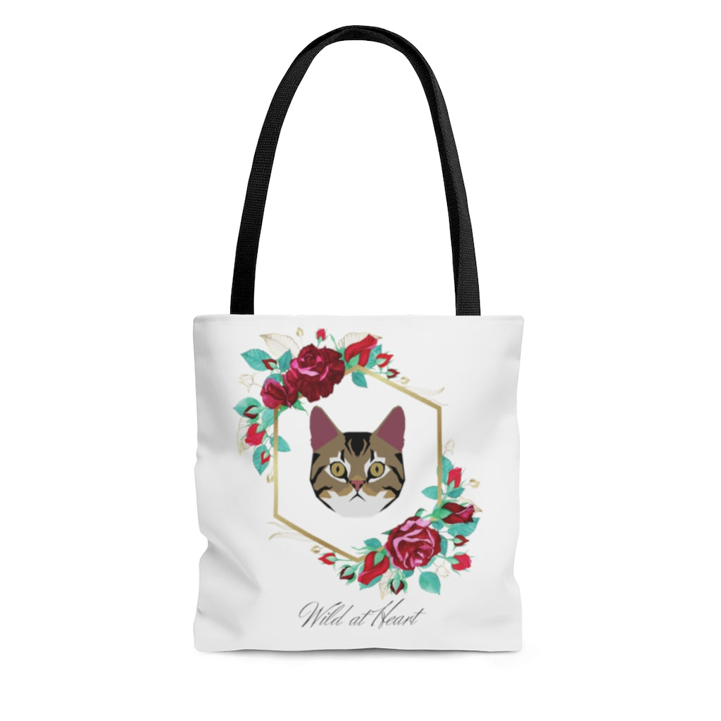 Wild at Heart Brown Tabby AOP Tote Bag