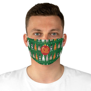 Cat Jingle Balls Fabric Face Mask Sweater Style