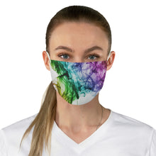 Load image into Gallery viewer, Rainbow Swirl Fabric Face Mask