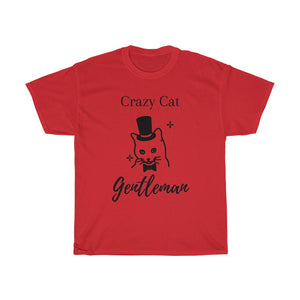 Crazy Cat Gentleman Unisex Heavy Cotton Tee