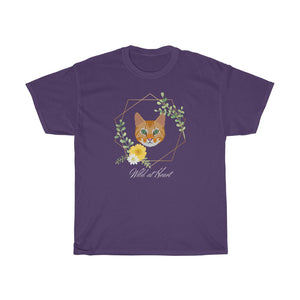 Ginger Tabby Wild At Heart Unisex Heavy Cotton Tee