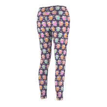 Load image into Gallery viewer, Kawaii Pastel Kittens Women's Cut & Sew Casual Leggings in Purple