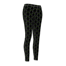 Load image into Gallery viewer, Spooky Black Cat Women's Cut & Sew Casual Leggings